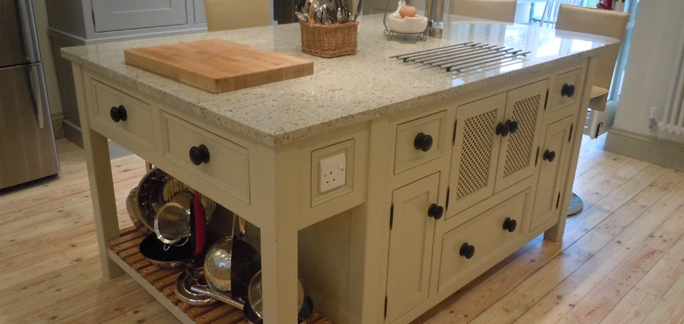 Island Unit with \u0027Hidden\u0027 Microwave Cupboard & Kitchen Islands - The Olive Branch - The Olive Branch Kitchens Ltd