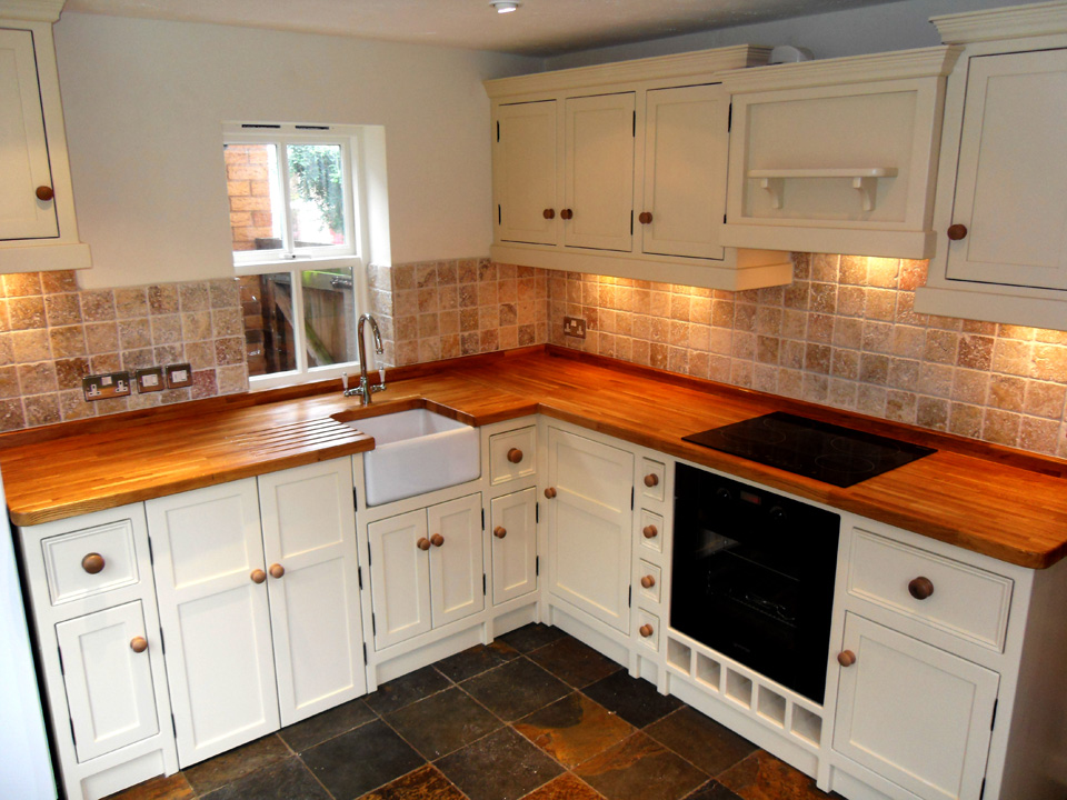 White And Pine Kitchen Units