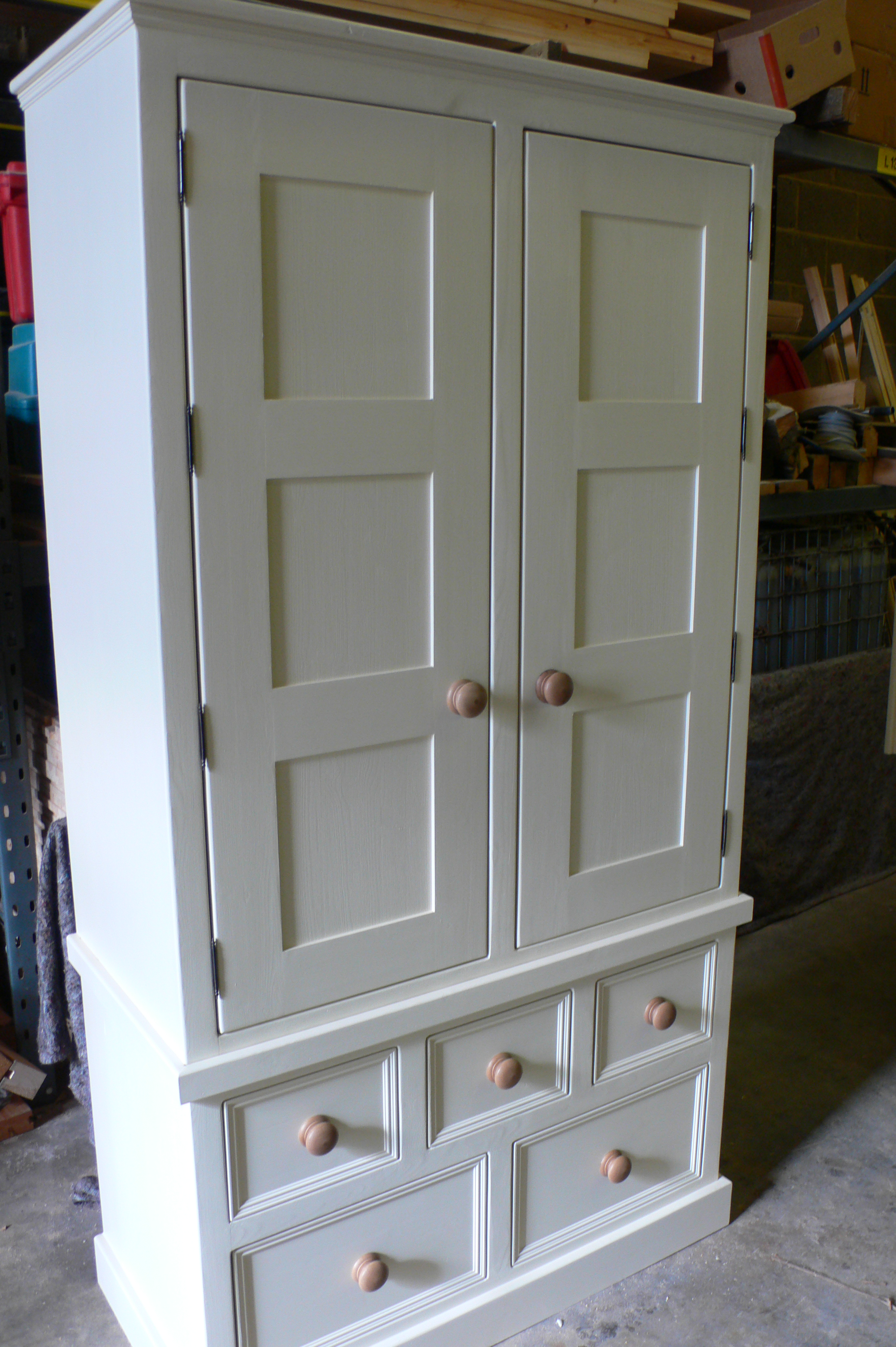 Double Larder Cupboard With Panelled Doors The Olive
