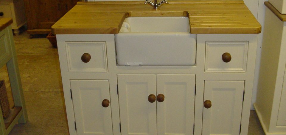 Belfast Sink Unit With Fancy Mixer Tap The Olive Branch