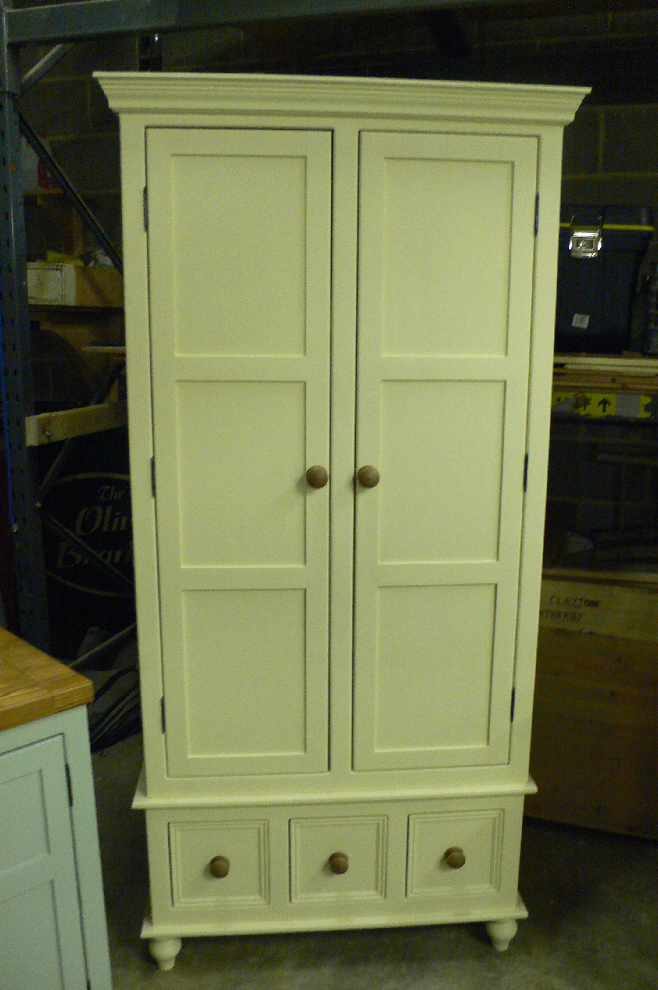 Simple Double Larder Cupboard The Olive Branch Kitchens