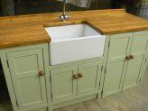 """Vert de Terre"" Belfast sink unit with appliance cupboard."