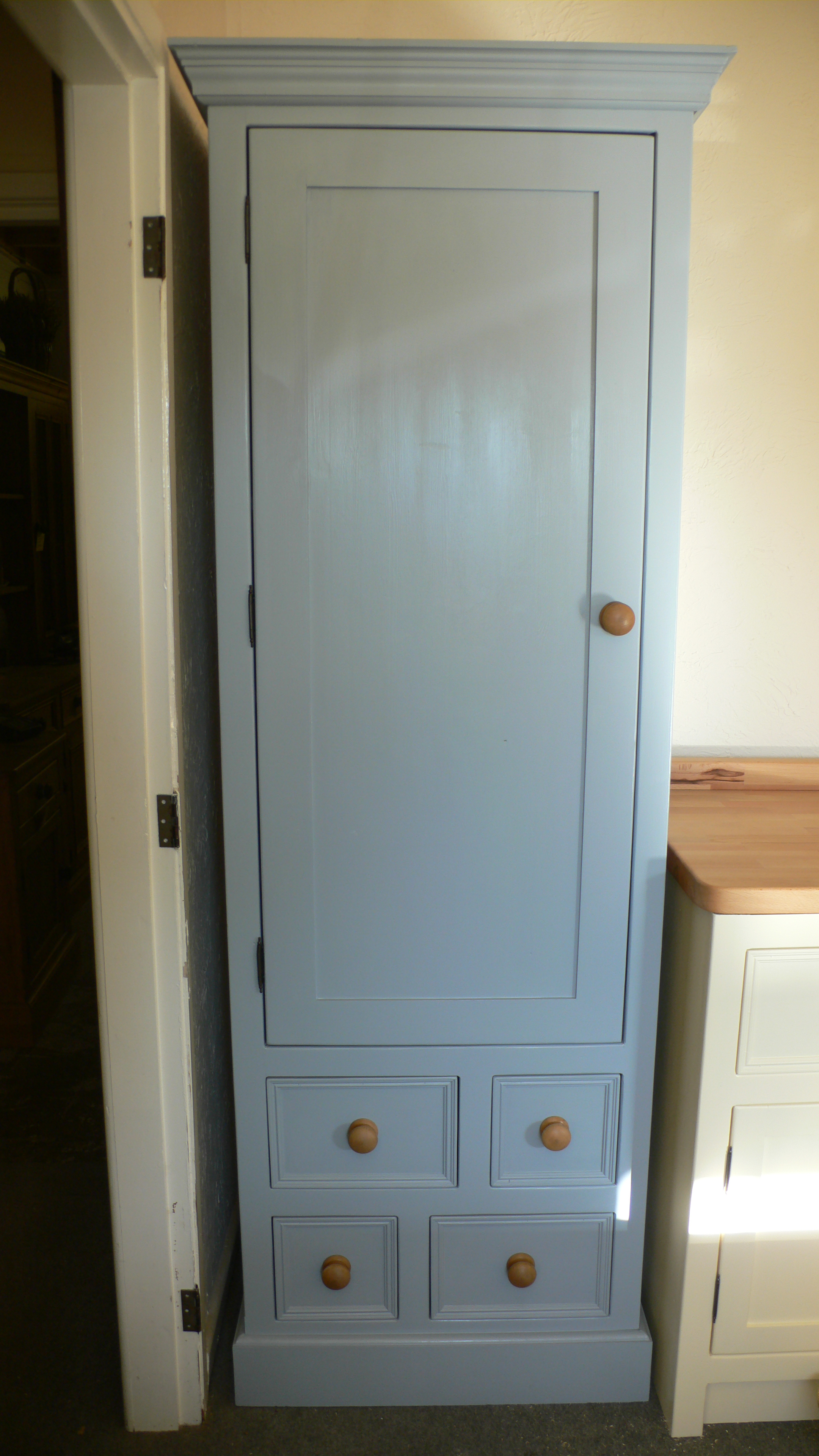 kitchen units slimline larder cupboard the olive branch kitchens ltd