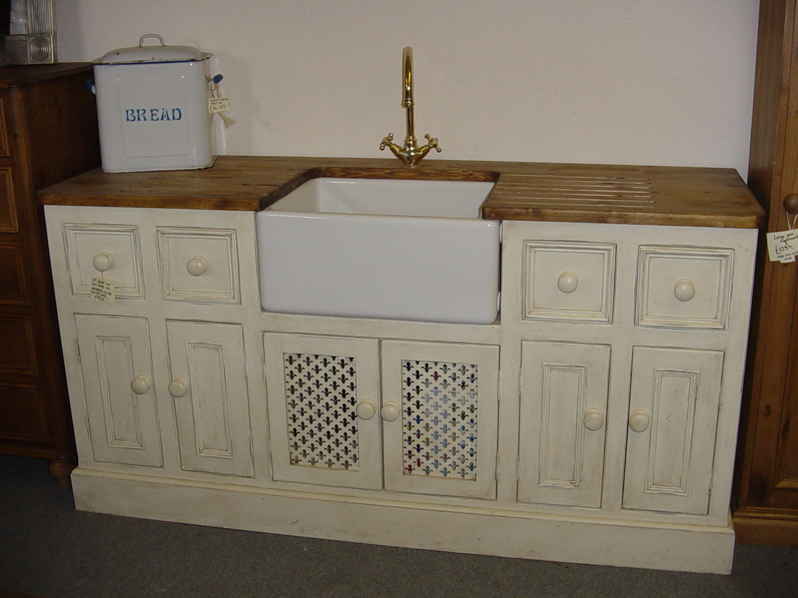 Shabby Chic Finish Belfast Sink Unit The Olive Branch