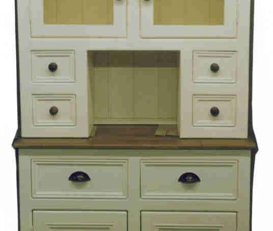 DR7 Dresser with A Glazed Top Cupboard