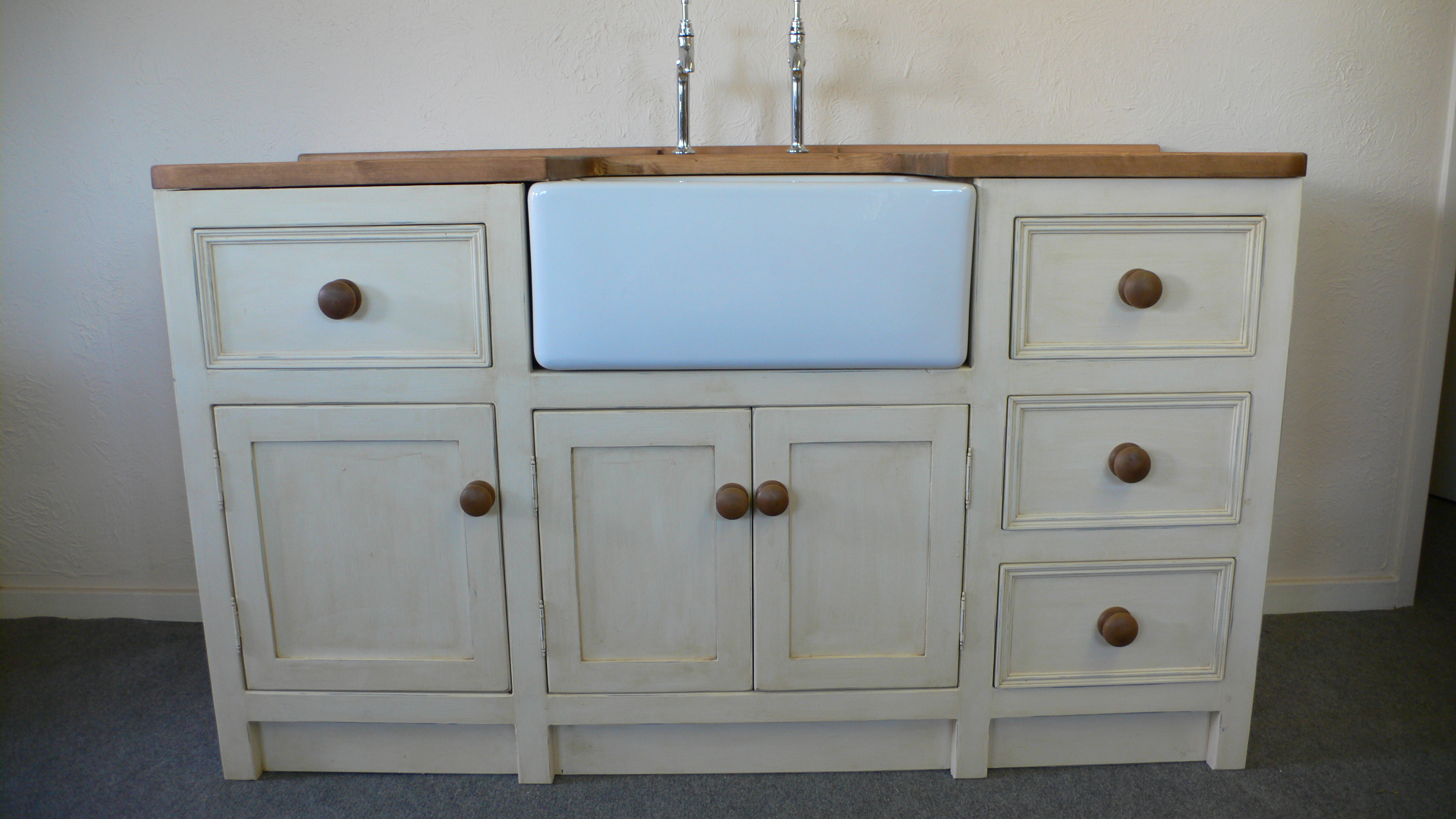 Belfast Sink Unit With Shabby Chic Style Finish The