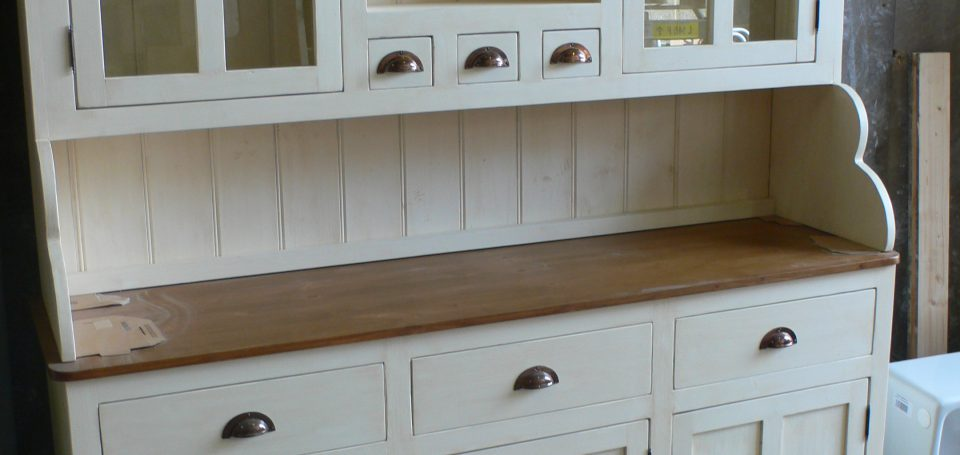 farmhouse dresser with glazed top cupboards The Olive Branch The Olive Br