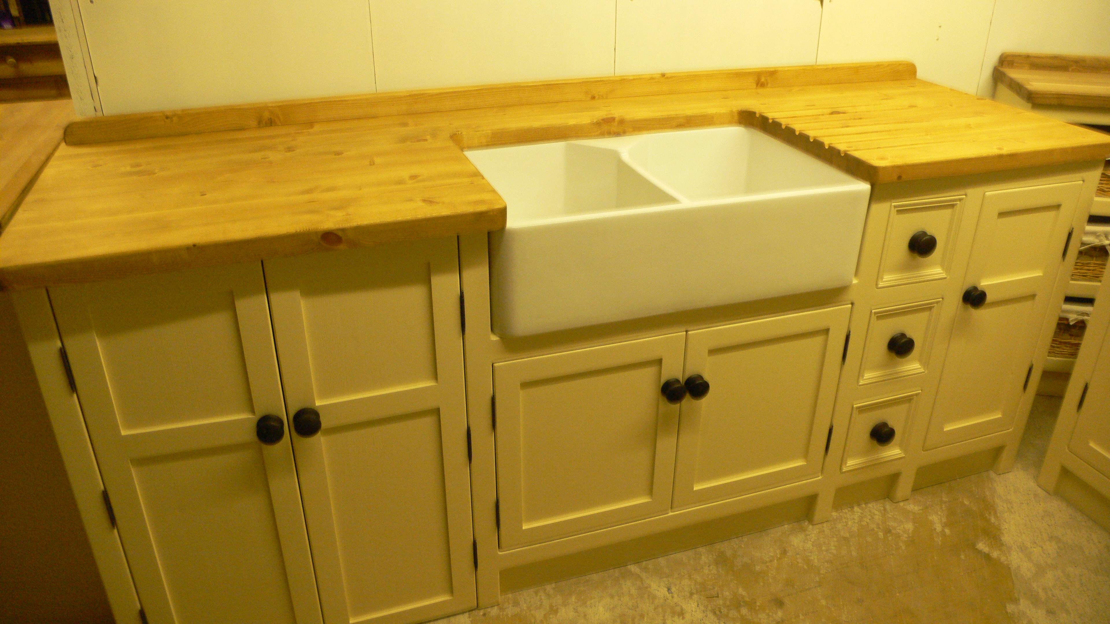 double sink unit with dishwasher cupboard - The Olive Branch Kitchens ...