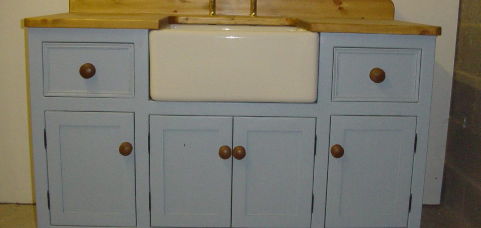 Lulworth Blue Sink Unit