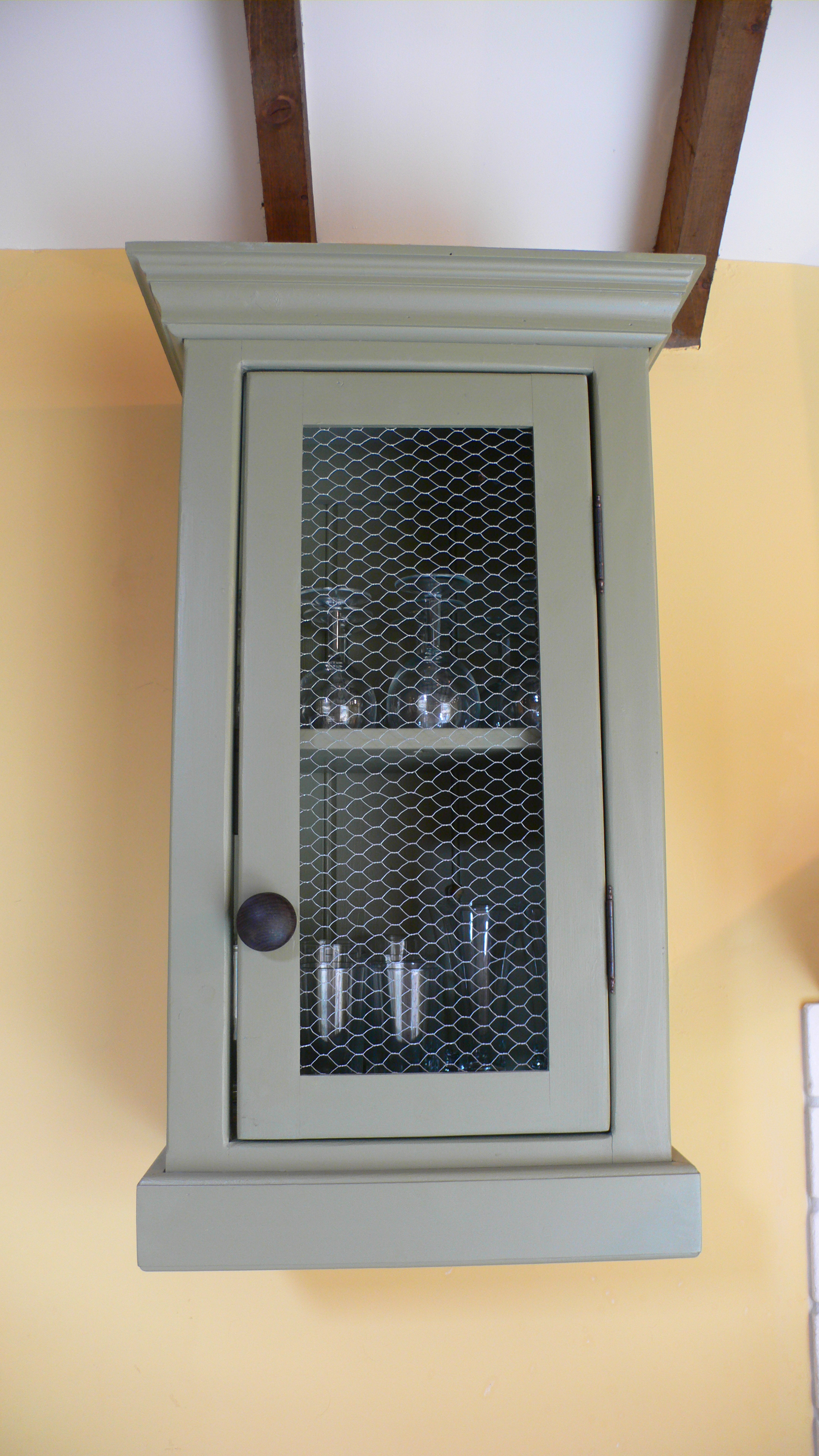 The Granary kitchen chicken wire top units - The Olive Branch ...