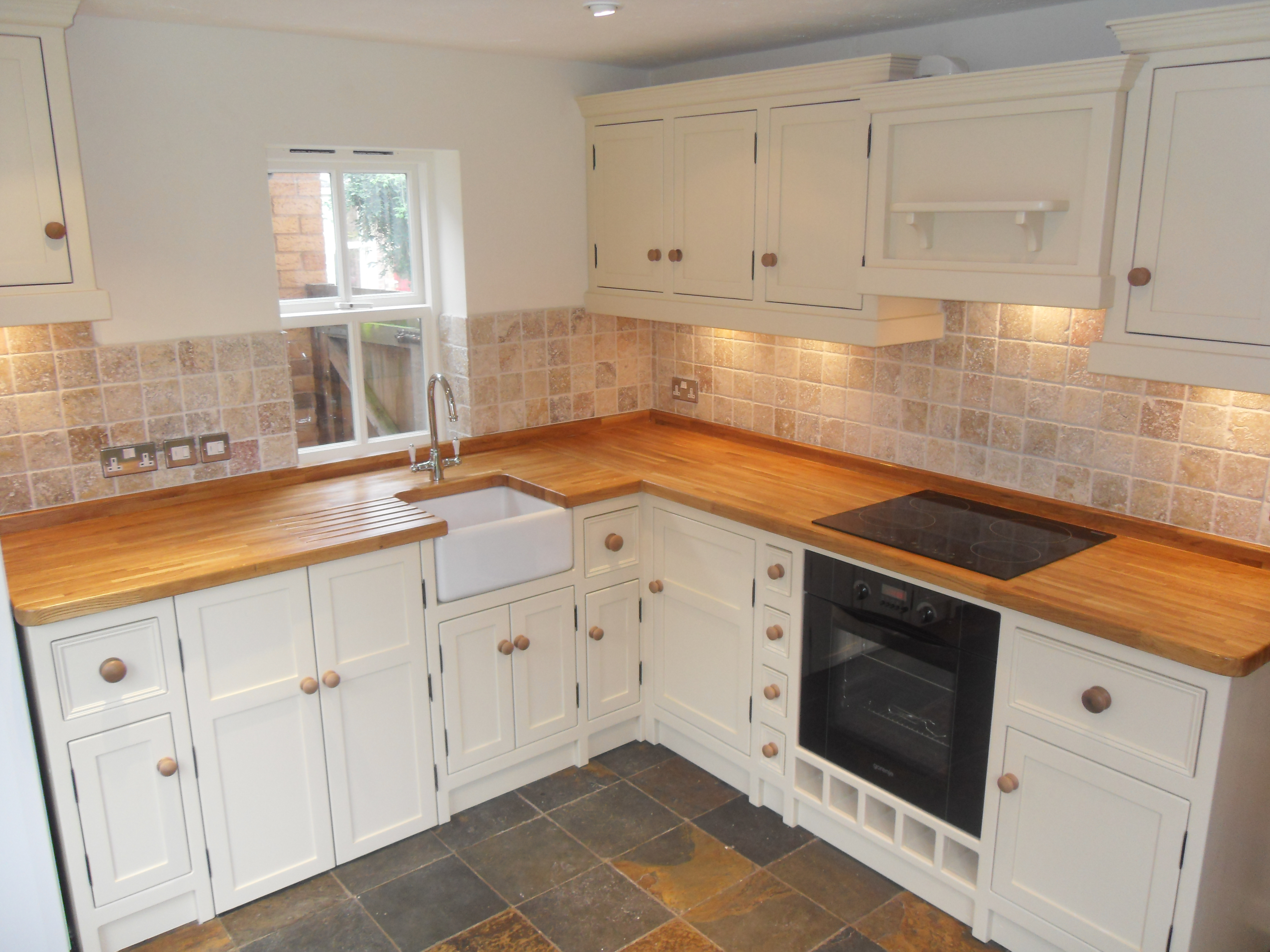 Kitchen with Butchers Block and Belfast Sink - The Olive Branch ...