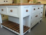Freestanding Island with cupboards and drawers