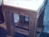 Square Butchers Block made from reclaimed timber