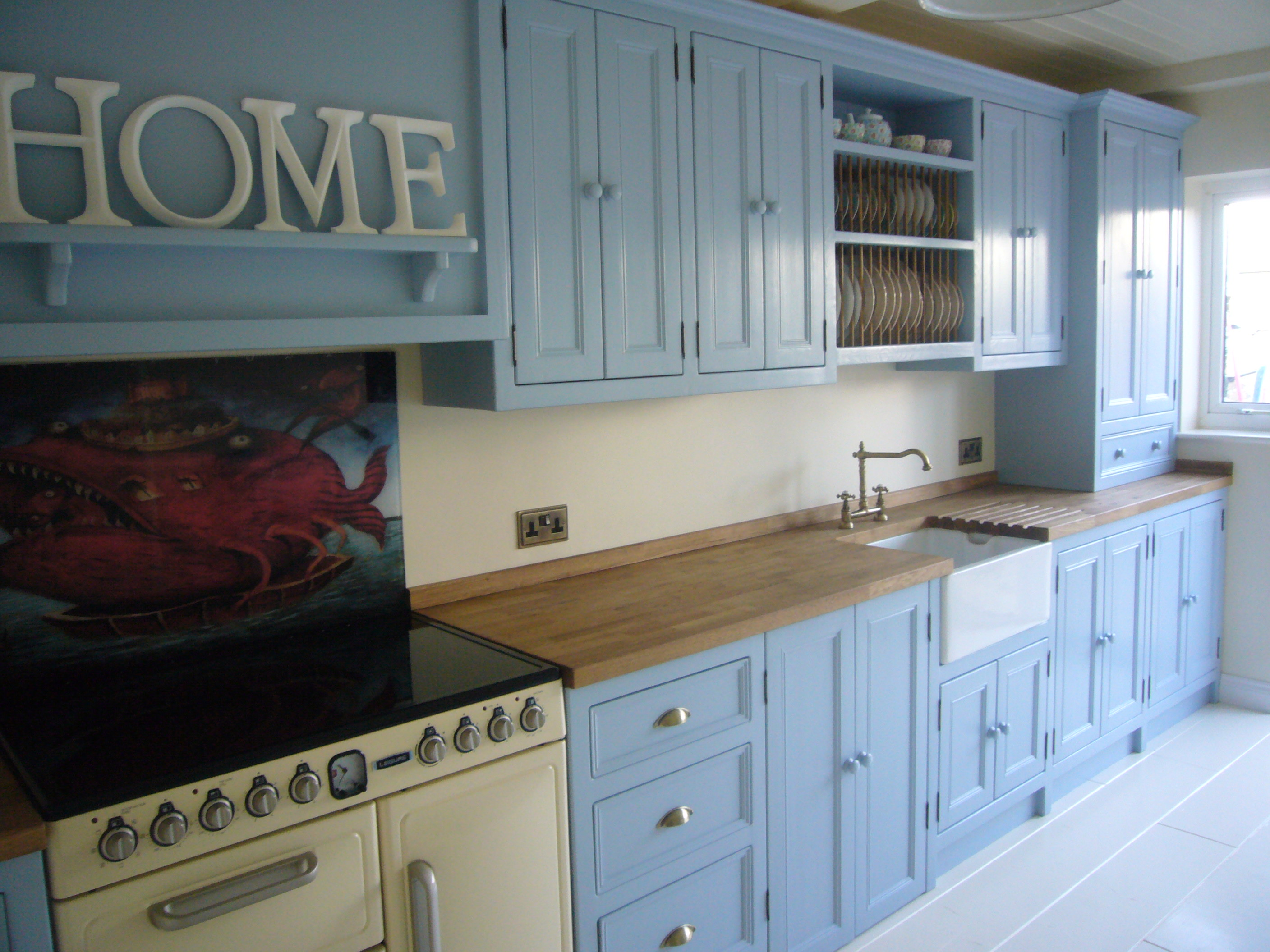 Freestanding kitchen Units with Integrated Belfast Sink - The Olive ...