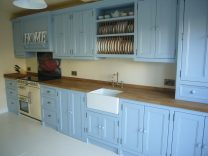 Martina's Kitchen - Belfast Sink, Plate Rack and Painted Units