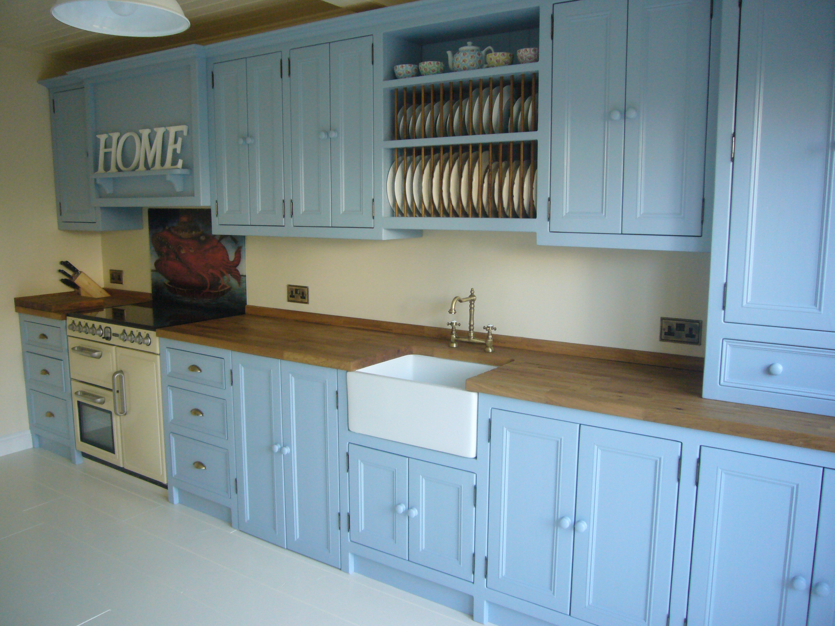 Martina\'s Kitchen - Belfast Sink, Plate Rack and Painted Units - The ...