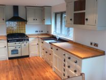Neil and Tracey Kitchen with Belfast Sink and Larder Unit