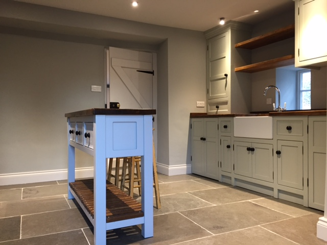Richard and steven 39 s new kitchen staindrop the olive for C kitchens ltd swanage