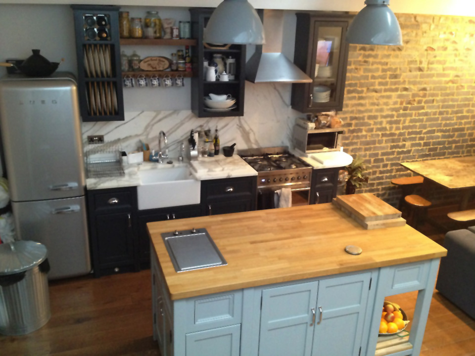 Freestanding Kitchen Island with Griddle