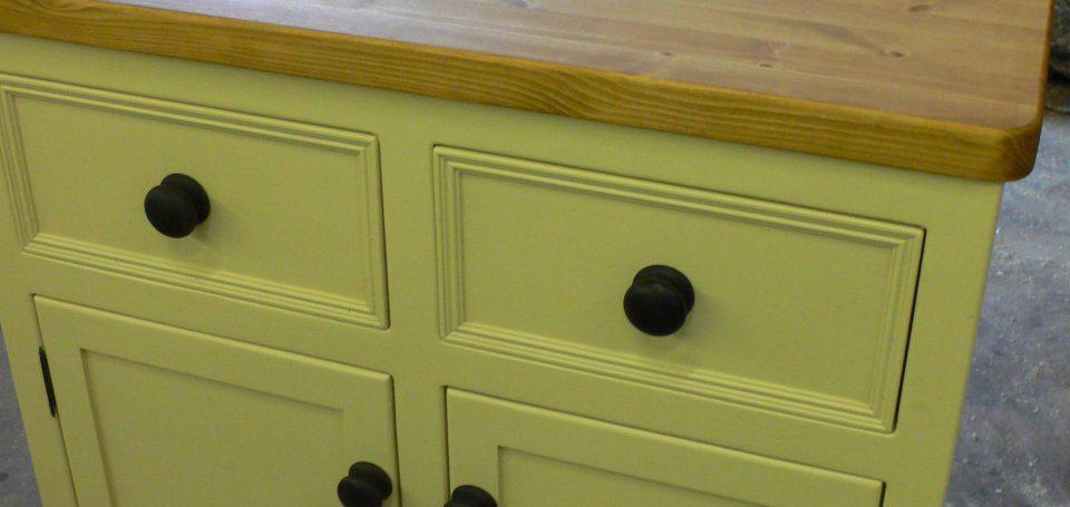 BU11 Double Door and Drawer Base Unit ebonised handles