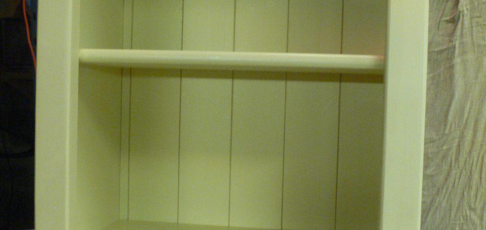 Cream Top Cupboard With Open Shelf