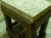 Butchers Block made from reclaimed timber.